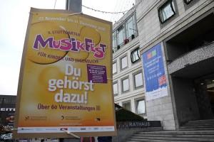Musikfest 2016: Freie Plakatierung. Fotograf: Ralf Püpcke